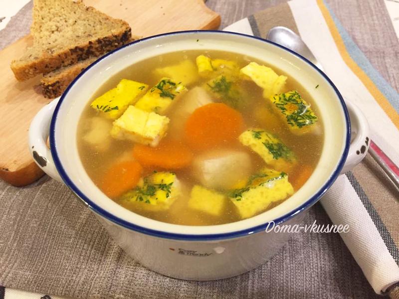 суп с омлетом