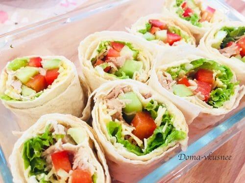лаваш с мясом и овощами