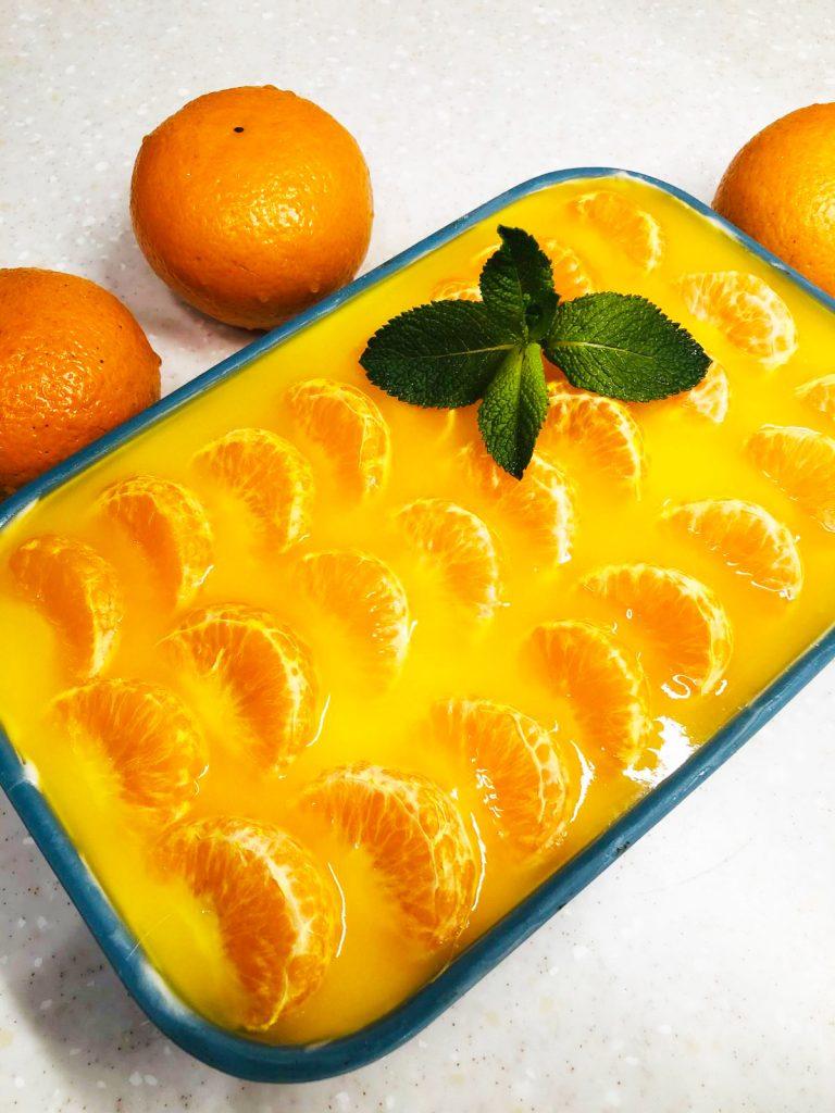 мандариновый чизкейк